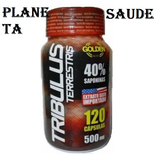 TRIBULUS TERRESTRIS – 120 CÁPSULAS DE 500MG - 40% SAPONINAS – GOLDEN NUTRI