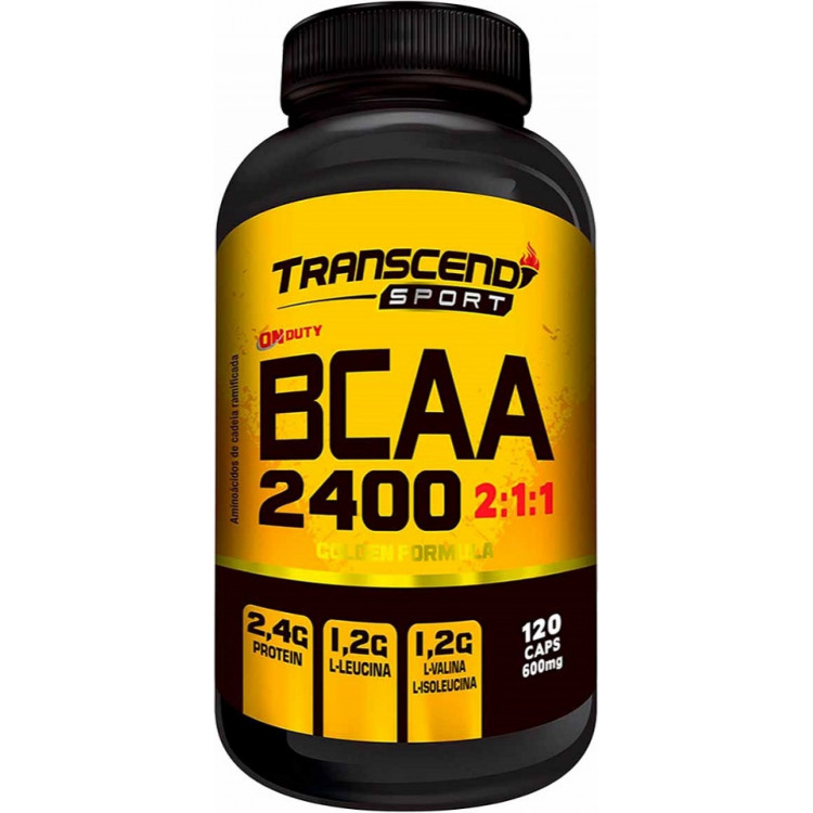BCAA 2400 600mg 120 cápsulas - Transcend Sport